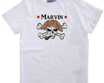 Boy Pirate personalized with name t-shirt