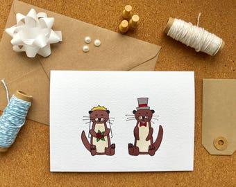 Cute Otter Wedding Card