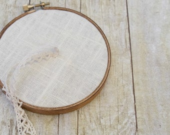 Hopsack Linen Ring Bearer Hoop  - 4 or 6 inch