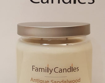 Family Candles - Antique Sandalwood 16oz Double Wicked Soy Candle
