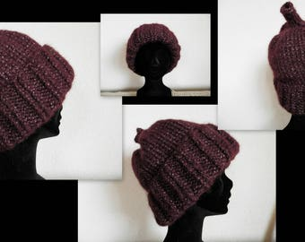 Dark purple sparkly Hat