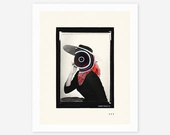 1 MILLION YEARS #4 (Giclée Fine Art Print/Photo Print/Poster Print) Surreal, Minimal, Abstract Collage