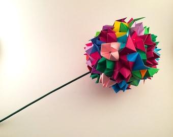 Multicolored Origami Topiary