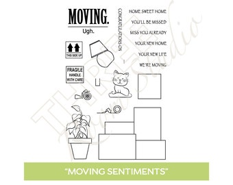 "TRS ""Moving Sentiments"" Clear Stamp set"