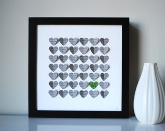 Wedding Gift, Personalized First Dance 3D Song Hearts - made from song lyrics or wedding vows (Unique anniversary present)