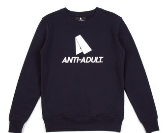 ANTI-ADULT Concept Sweater | Navy