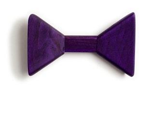 Purple Wooden Bow Tie           (Bow tie Tie Mens tie Wood tie Kids tie Handcrafted bow tie Boy gift Men's tie Wooden tie Wood tie Wood bow)