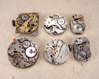 Rare Watch Movements  - set of 6 - c223