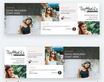 Twitter Header Template - Twitter Profile Image - Twitter Cover Template - Layered .PSD File - INSTANT DOWNLOAD