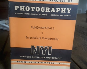 Vintage The Theory and Practice of Photography NYI New York Pamphlet