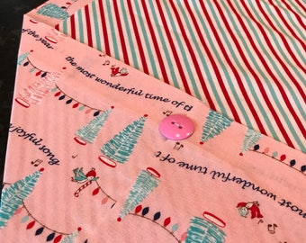Candy Cane Wishes Table Runner