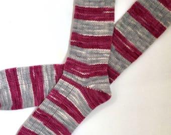 Handmade Wool Socks 449 -- Men's Size 11-13