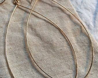 Extra Large Hoops (sterling, rose gold, gold-fill)