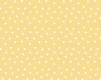 1 Yard of Pam Kitty Morning Yellow Dots on Check from Lakehouse Drygoods