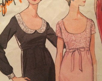Rare Empire Waist Dress Pattern---McCalls 8010