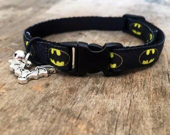Batman cat collar