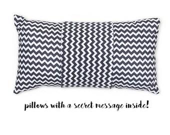 Zig Zag - pillow with a secret message