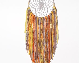 Golden sunset, you are my sunshine, dream catcher, customized dreamcatcher, yellow, kidsroom, wall hanging, boho chic, gray, babyshower