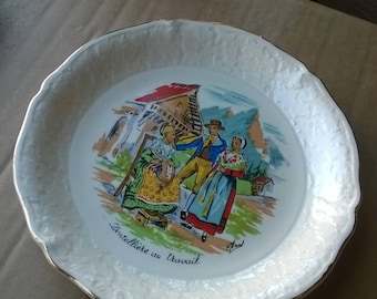578) collectible plate, trades of France