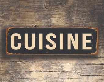 CUISINE SIGN, Cuisine Signs, CUISINE Decor, Restaurant Sign, Vintage Style Cuisine Sign, Restaurant Decor, Kitchen Decor, Kitchen Signs,