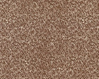 Sock Monkey fabric | Texture Brown Sock 15075 17 | Quilting Cotton fabric
