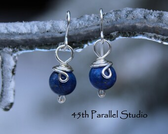 Sterling Silver Lapis Earrings, Blue Earrings, Lapis Earrings, Lapis Lazuli Jewelry, Lapis Lazuli Earrings, Lapis Earrings, Lapis Lazuli