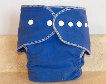 Fitted Preemie Newborn Cloth Diaper- 4 to 9 pounds- Royal Blue- 16036
