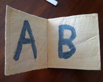 Blackboard alphabet book