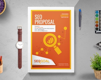 SEO Search Engine Optimization Project Proposal Quotation Template | Project Proposal | InDesign Proposal | Proposal Print Template