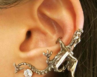 Dragon Ear Cuff Dragon Earring Bronze Dragon Climber Ear Cuff DragonEarcuff Dragon Ear Wrap Dragon Jewelry Non Pierced Earring Ear Climber