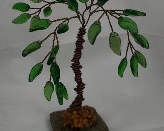 Handcrafted beaded palm tree