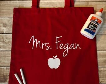 Teacher Tote - Personalized Canvas Tote for Teachers