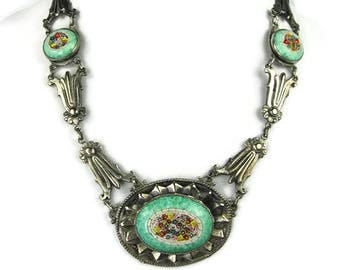 Art Deco Micro Mosaic Necklace