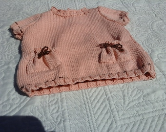 COTTON SHORT SLEEVE DRESS HANDMADE BIRTH