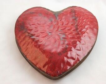 LG Stoneware Clay Pottery Textured Wall Vase- Ceramic, Red, Wall Pocket