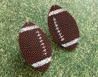 Football earrings, large football earrings, sports earrings