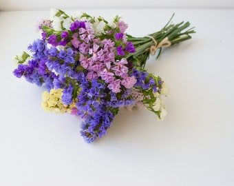 Statice, dry flowers, bright bouquet, wedding decor,dried flowers