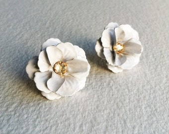 earrings from d silver flower for joshua diamond image