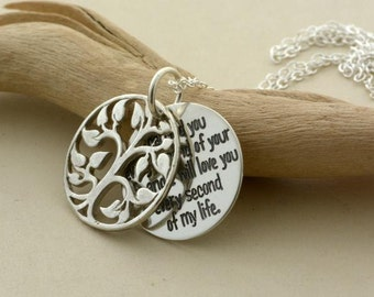 """Child loss Remembrance necklace, custom engraved handmade sterling silver jewelry """"I held you every second"""" Memorial, Sympathy gift for HER"""