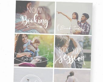 Now Booking Photography Template, Now Booking Overlay, Digital Overlays, Photography Overlays, Book Now, PNG Overlay, Photoshop Overlay