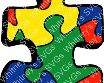 Puzzle Piece Autism Awareness SVG DXF Cutting File