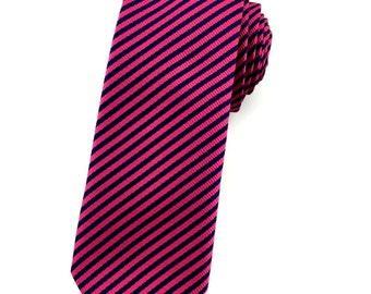 Mens Tie 6 CM Maroon Dark Blue Stripes Skinny Tie. Skinny Ties. Formal Tie. Striped Necktie. Groomsmen Neck Ties. Wedding Tie. Maroon Tie