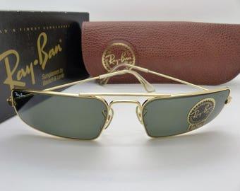 RayBan B&L W1957 Fugitives Square Arista G-15 XLT lenses Vintage New Old Stock