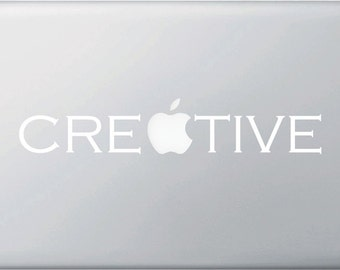 "MB - Creative - Macbook or Laptop Vinyl Decal (10""w x 1.25""h)"