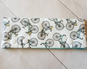 """Bicycle Themed DPN Holder -for 6"""" DPNs  -dpn Cozy -DPN Cover -Cozy for Knitting Needles -Retro"""