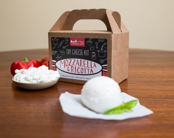 Mozzarella & Ricotta DIY Cheese Kit- 8 batches (cow's milk)