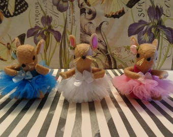 Brown Ballerina Mice Ornaments by Pepperland
