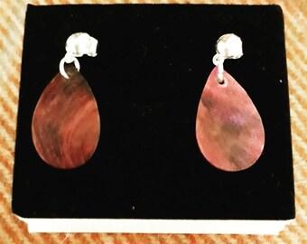 Fuschia Pink Drop Earrings