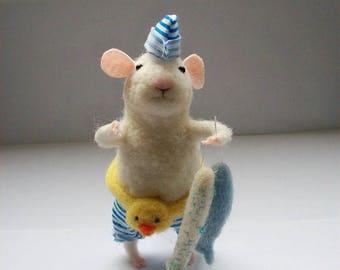 felt toy mouse, child gift, nursery decor