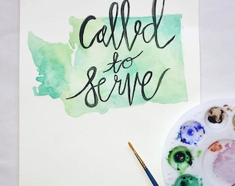 Custom Called to Serve Missionary Painting